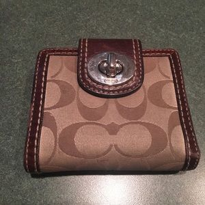 Coach brown signature wallet